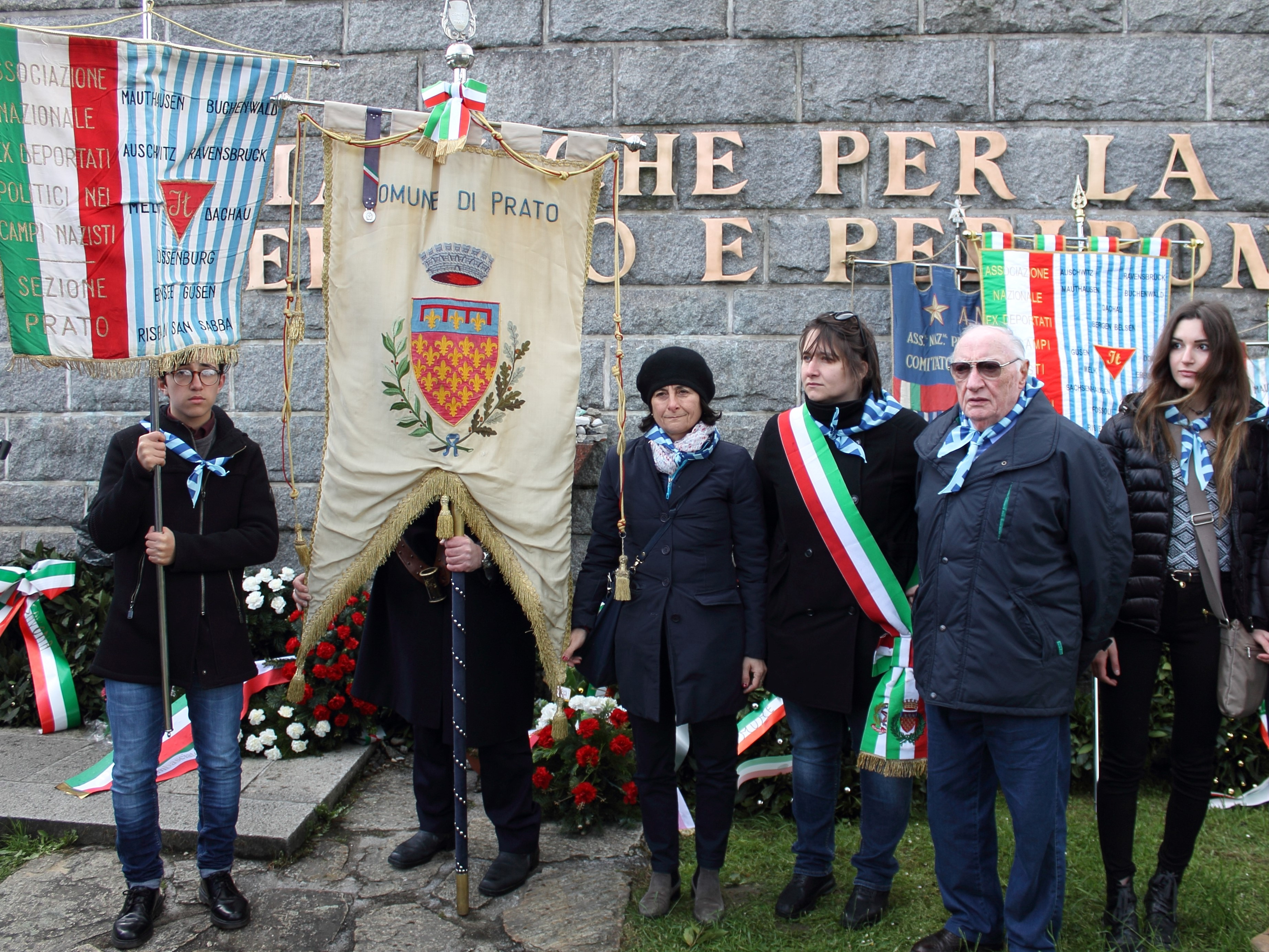 The remembrance journey 2016. Representatives of the City of Prato in Ebensee