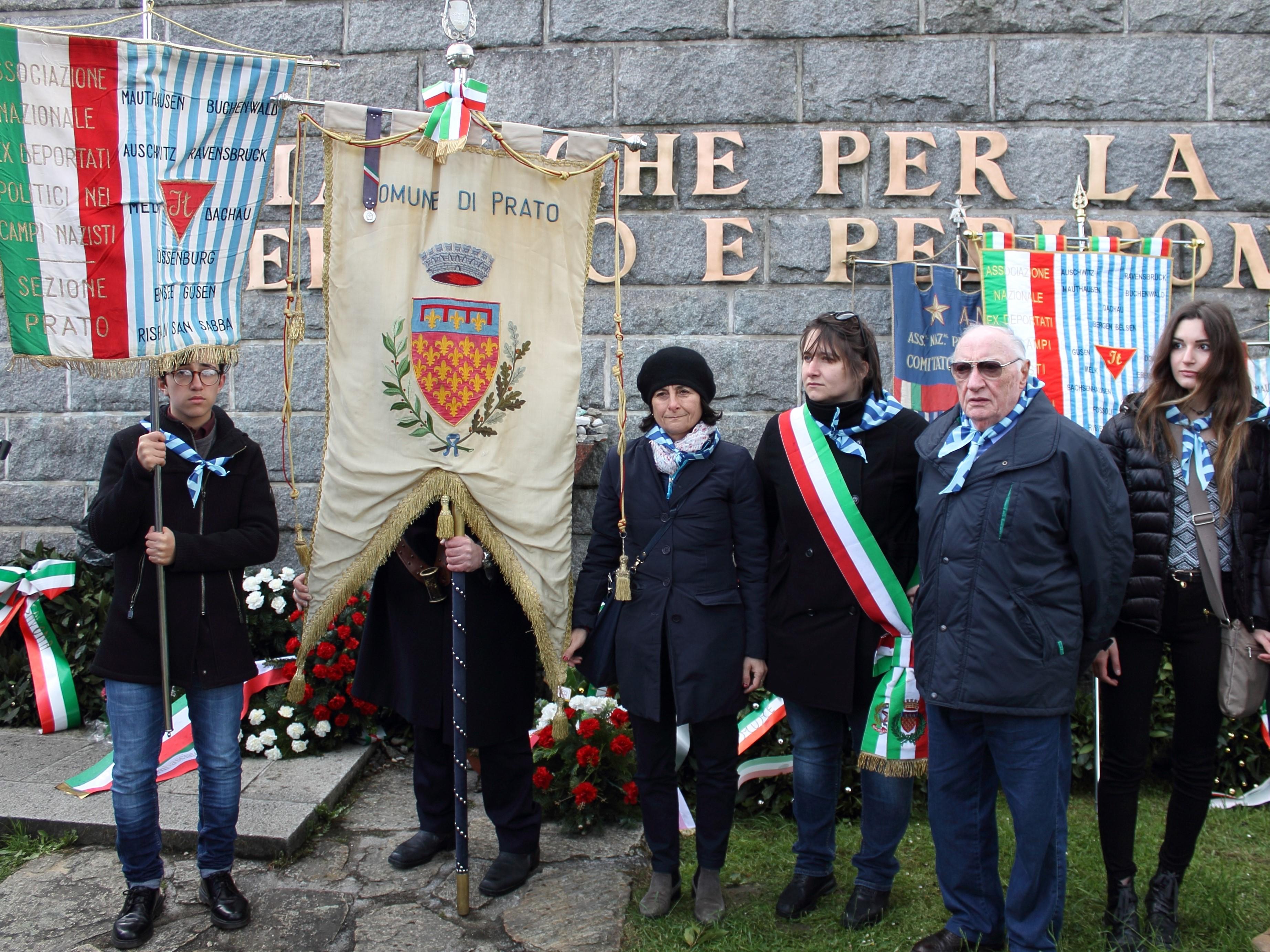 Die Reise der Erinnerung 2016. Die Vertreter der Stadt Prato in Ebensee