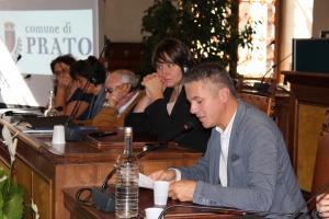 L'intervento del Sindaco di Ebensee, Markus Siller, durante l'incontro pubblico