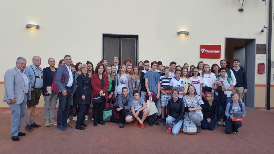 <p>Foto di gruppo della delegazione di Ebensee</p>