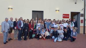 Foto di gruppo della delegazione di Ebensee
