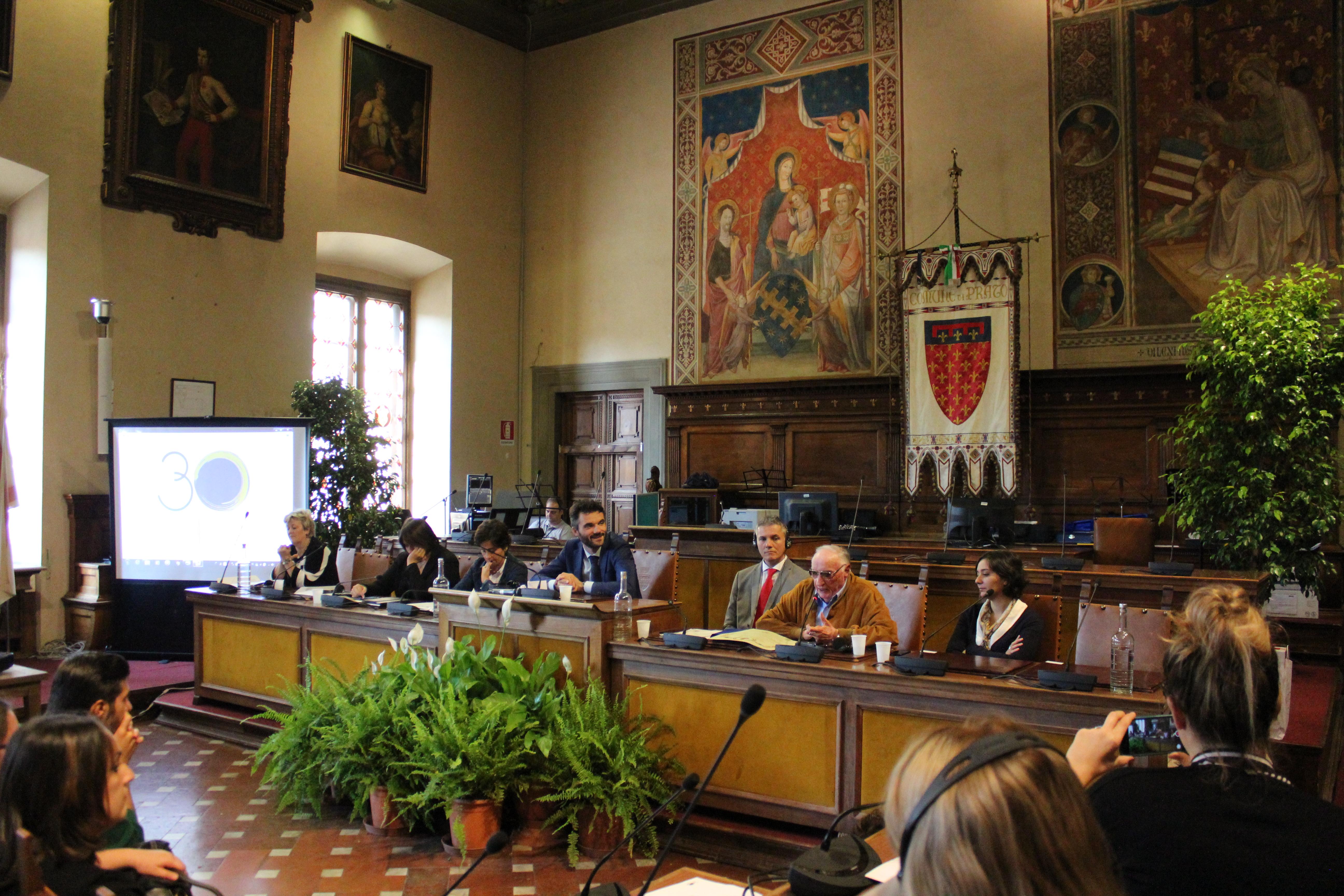 <p>Inizio delle celebrazioni sull'anniversario dei 30 anni del gemellaggio tra Prato e Ebensee</p>