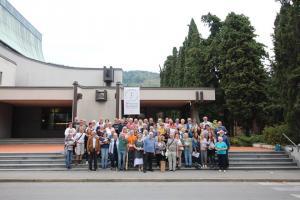 La delegazione di Ebensee e Prato per i saluti finali alla chiesa di Santa Lucia